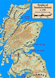 Early Scotland map