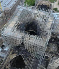 Notre Dame Cathedral scaffolding