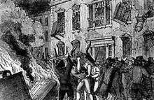 Sons of Liberty burning Hutchinson house
